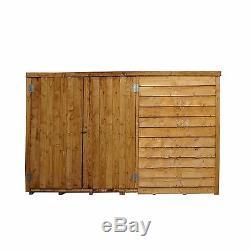 6x4 Wooden Garden Bike Store Double Door Pent Roof Felt