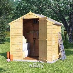 6x4 Wooden Garden Shed Storage Tools Bike Outdoor Storer Patio Apex Roof Timber