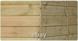 6x5 Garden Shed Shiplap Pent Roof Tanalised Pressure Treated Door Left End