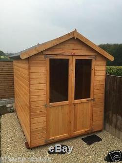 6x6 Wooden Summerhouse Patio Shed Garden Storage Cabin FULLY T&G 6ft x 6ft
