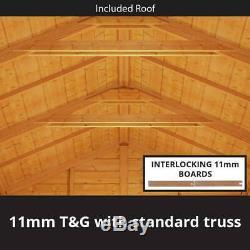 6x8 Tongue & Groove Double Door Wooden Shed Windowless Apex Garden Tool Storage