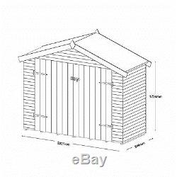7x3 Bike Store Shiplap + Apex Wood Wooden Garden Shed Storage NEW