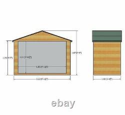 7x3 SHIPLAP BICYCLE STORE GARDEN SHED APEX ROOF DOOR OSB FLOOR WOOD BIKE ft 3ft