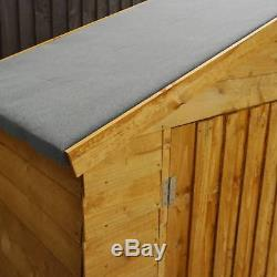 7x3 WOODEN BIKE SHED STORE 7ft x 3ft NEW WOOD DOUBLE DOOR GARDEN HUT SHEDS STORE