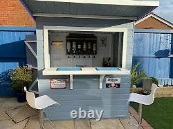7x4 GARDEN BAR SHED WOODEN DRINKS HUT SHIPLAP T&G OUTDOOR KIOSK DOOR LEFT