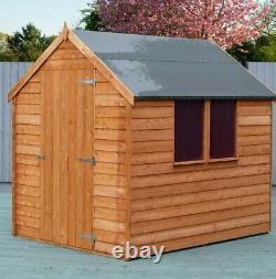 7x5 GARDEN SHED SINGLE DOOR APEX WINDOW WOODEN STORE FLOOR STORAGE 7ft x 5ft New