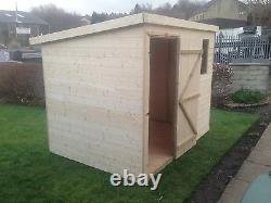 7x5 T&G GARDEN SHED HEAVY 12MM TONGUE AND GROOVE PENT ROOF HUT WOODEN STORE