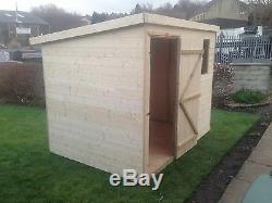 7x5 T&G GARDEN SHED HEAVY 14MM TONGUE AND GROOVE PENT ROOF HUT WOODEN STORE