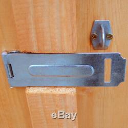 7x5 WOODEN OVERLAP GARDEN SHED APEX ROOF DOUBLE DOORS FLOOR WINDOWS 7ft x 5ft