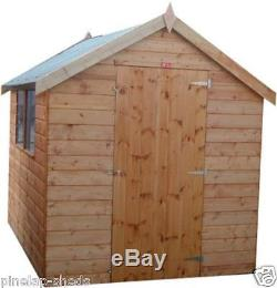 7x5 Wooden Apex Garden Shed Factory Seconds Hut Pinelap T&G Store No Windows