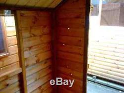 7x5 Wooden Apex Garden Shed Factory Seconds Hut Pinelap T&G Store No Windows