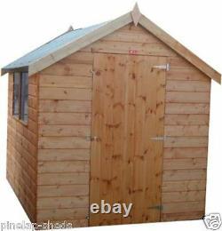 7x5 Wooden Garden Shed FULLY T&G Factory Seconds Solid Cheap T&G Garden Hut