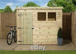7x5 Wooden Garden Shed Shiplap Pent Shed Tanalised Garden Shed Door Left