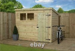 7x5 Wooden Garden Shed Shiplap Pent Tongue And Groove Garden Shed Door Right