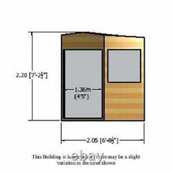7x7 GARDEN CORNER SHED TONGUE & GROOVE CLAD DOUBLE DOORS OPENING WINDOWS NEW 7ft