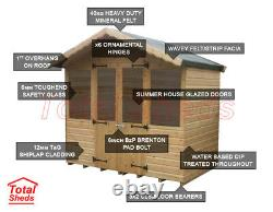 8 x 6 SUPREME SUMMER HOUSE LOG CABIN WOODEN SHED TOP QUALITY GRADED TIMBER