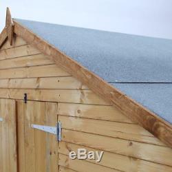 8 x 6 Shipplap Plus Apex Wooden Garden Shed Bike Store Storage NEW