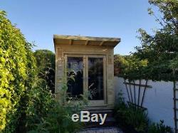 8 x 7 PRESSURE TREATED Double Glazed Tanalised Studio/shed Garden room