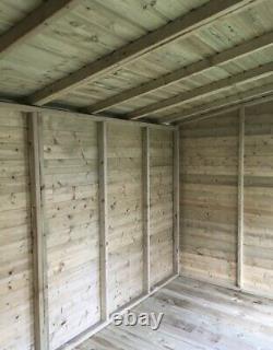 8x10'Don Morris' Wooden Garden Shed/Summerhouse/Studio Heavy Duty Tanalised