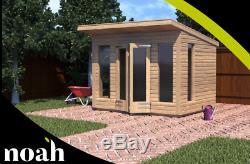 8x10'Roseberry' Heavy Duty Tanalised Wooden Garden Summerhouse/Studio/Shed