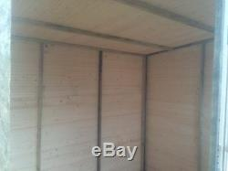 8x4 T&G GARDEN SHED HEAVY 14MM TONGUE AND GROOVE PENT ROOF HUT WOODEN STORE