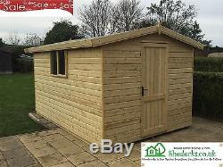 8x6 Apex Wooden Garden Shed Tanalised 16mm T&G Heavy Duty Tanalised