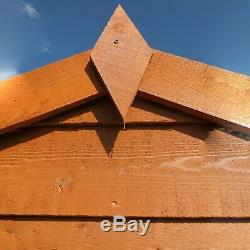 8x6 GARDEN SHED APEX ROOF FLOOR DOOR WINDOWLESS WOOD TOOL BIKE STORE 8ft 6ft DIP