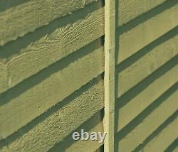 8x6 GARDEN SHED APEX ROOF FLOOR WINDOWLESS WOOD TOOL BIKE STORE PRESSURE TREATED