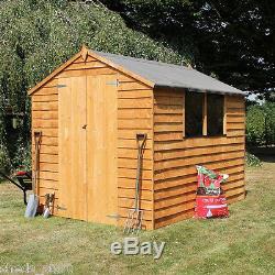 Garden Sheds 8x6 overlap wooden shed window double door apex roof & felt garden