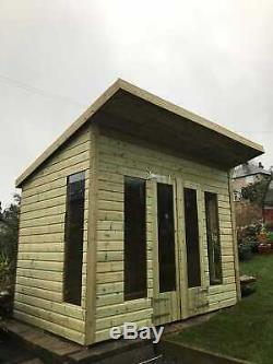8x6'Roseberry' Heavy Duty Wooden Garden Room Studio/Shed/Summerhouse Tanalised