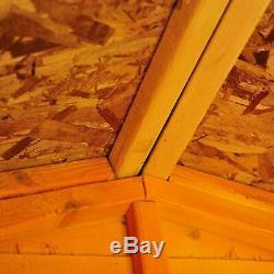 8x6 WOODEN GARDEN SHEDS 8ft x 6ft REVERSE APEX WOOD SHED SINGLE DOOR WINDOW NEW