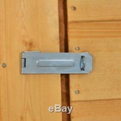 8x6 WOODEN GARDEN SHED APEX ROOF FELT FLOOR WINDOWLESS SINGLE DOOR STORE 8ft 6ft