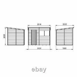 8x6 WOODEN GARDEN SHED OVERLAP PENT STORAGE WINDOW STORE SINGLE DOOR 8FT 6FT NEW