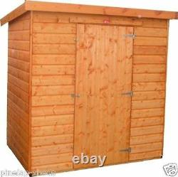 8x6 WOODEN GARDEN SHED PENT ROOF FULLY T&G STORAGE HUT 12MM