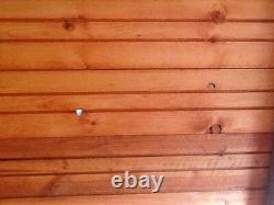 8x6 Wooden Apex Garden Shed Factory Seconds T&G PINELAP Hut No Windows COLLECT