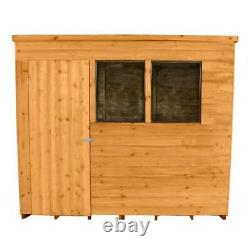 8x6 Wooden Pent Overlap Dip Treated Garden Shed Assembly Service Available