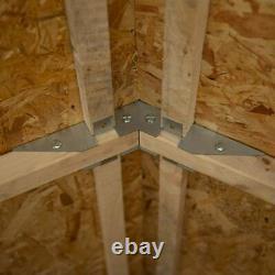 8x6 Wooden Shed Overlap Apex Windowless 8ft x 6ft Garden Storage Base Option