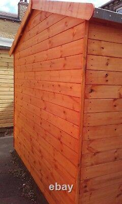 8x6 Wooden Summerhouse Inc 2ft Front Veranda FULLY T&G Outdoor Garden Shed