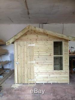 8x6 summer house off set log cabin style ideal pub shed garden bar etc