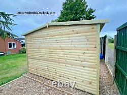 8x6 summerhouse shed loglap workshop garden office man cave heavy duty t&g
