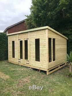 8x8'Don Morris' Heavy Duty Wooden Garden Room/Storage-Shed/Summerhouse/Studio