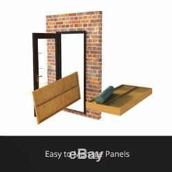 8x8 Tongue & Groove Garden Shed Windowless Double Door Apex Wooden Tool Storage