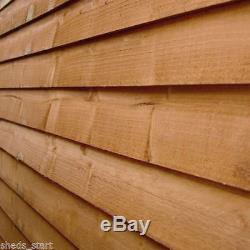 8x8 Wooden Overlap Garden Shed 8ft x 8ft Apex Roof Sheds Budget Wood Storage