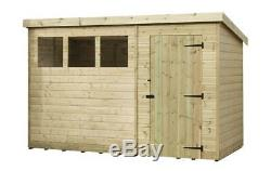 9x5 Garden Shed Shiplap Pent Shed Tanalised Windows Pressure Treated