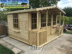 Apex Summerhouse Cabin Shed Garden Office Deluxe 16mm T&G Modern workshop sheds