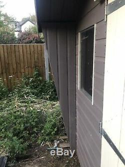 Attractive Used Timber Garden Shed 8x8ft. Contrasting Paint Finish. Lockable