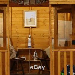 Beach Hut Summerhouse (10 x 8) Mercia Garden Products Sheds