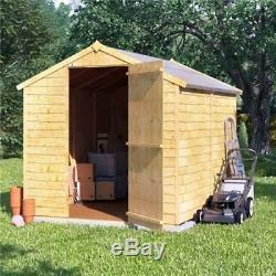 Big Outdoor Storage Shed Tool Bike Wood Garden Storer Patio Apex Roof Timber 4x6