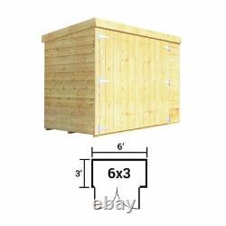 BillyOh 6x3 Mini Keeper Overlap Wooden Pent Garden Bike Storage Shed
