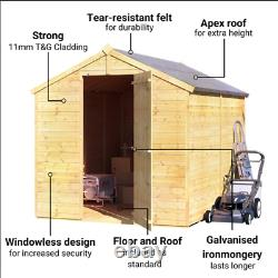 BillyOh 8ft x 6ft Master Tongue and Groove Wooden Garden Shed Storage BRAND NEW